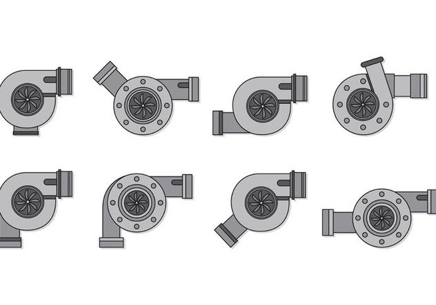Set Of Turbocharger Vectors - vector #407829 gratis