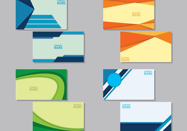 Set Of Namecard Templates - vector #407859 gratis