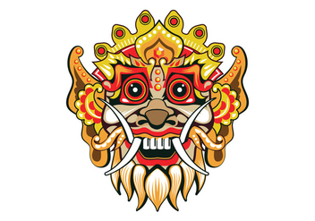 Fun Barong Mask Vector - Free vector #407869