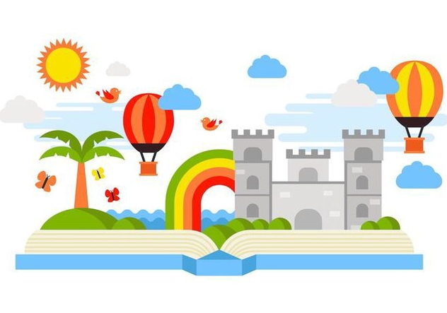 Free Open Book Story Telling Vector - Free vector #407889
