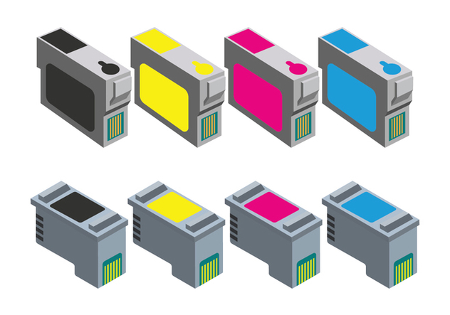 Ink Cartridge Icons - vector #407919 gratis