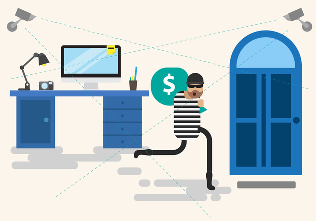Free Theft Illustration Vector - бесплатный vector #408399