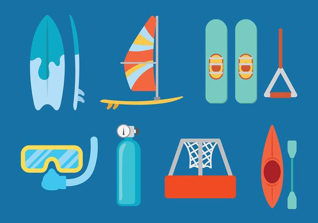 Water Skiing Vector - Free vector #408419