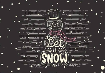 Free Christmas Vector Snowman Illustration - Free vector #408969