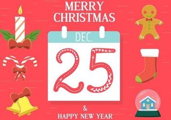 Free Christmas Vector Calendar - vector #409039 gratis
