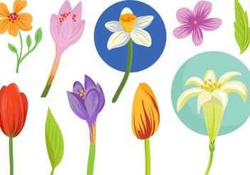 Free Spring Flowers Vectors - Kostenloses vector #409239