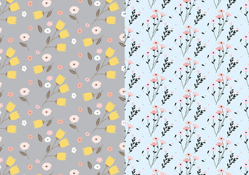 Pastel Floral Pattern - Kostenloses vector #409369