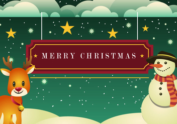 Beautiful Christmas Card - Free vector #409419