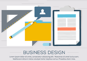 Free Business Workdesk Illustration - Free vector #409499