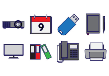 Free Office Element Icon Vector - Free vector #409559