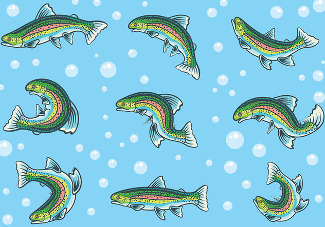 Free Rainbow Trout Icons Vector - Free vector #409879
