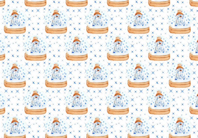 Pattern With Cute Polar Bear Free Vector - Free vector #409999