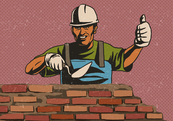Masonry Worker - Free vector #410139