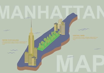 Free Manhattan Map Illustration - Kostenloses vector #410179