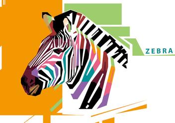 Zebra - WPAP - Kostenloses vector #410239