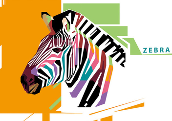 Zebra - WPAP - Free vector #410239