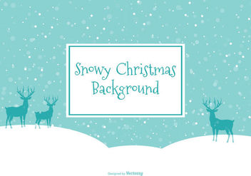 Beautiful Snow Scene Illustration - Free vector #410269