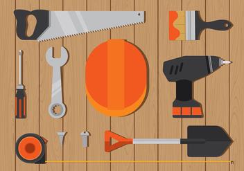 Masonry Icon Flat Free Vector - vector #410619 gratis