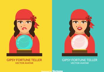 Free Vector Gispy Fortune Teller Avatar Set - Kostenloses vector #410639