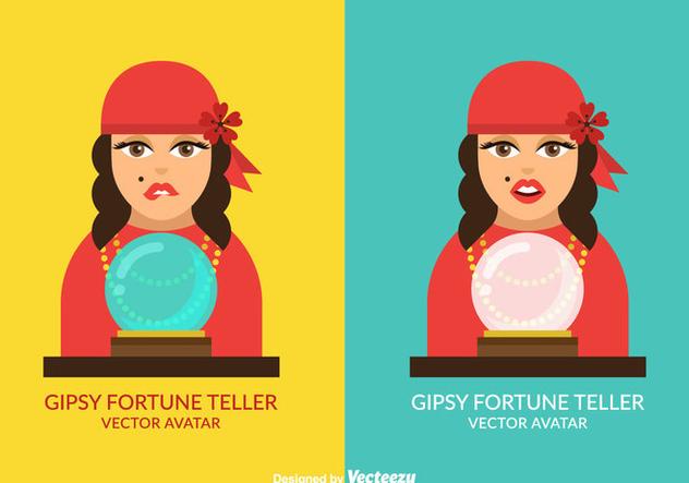 Free Vector Gispy Fortune Teller Avatar Set - Free vector #410639