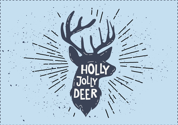 Free Christmas Deer Vector - бесплатный vector #410839