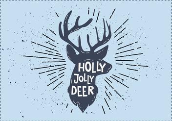 Free Christmas Deer Vector - vector #410839 gratis