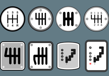 Gear Shift Free Vector - vector gratuit #411009