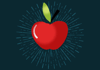 Radiant Apple - vector gratuit #411109