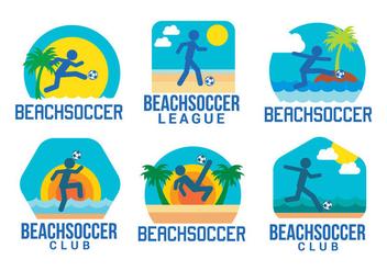 Beach soccer vector - Free vector #411159