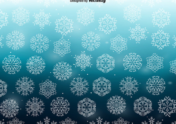 White Snowflakes SEAMLESS Pattern - vector gratuit #411199