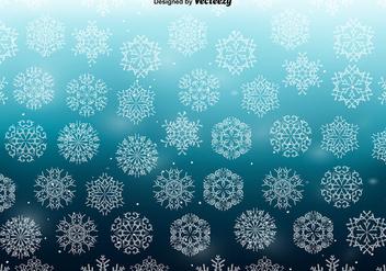 White Snowflakes SEAMLESS Pattern - бесплатный vector #411199