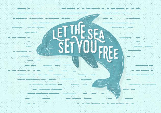 Free Vintage Dolphin Vector Illustration - Free vector #411279