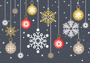 Free Christmas Snowflake Background Vector - vector gratuit #411299