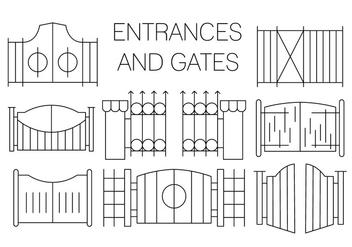 Free Gate Icons - vector gratuit #411429