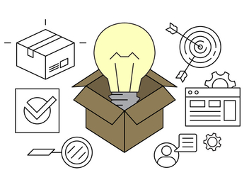 Business Idea Vector Icons - vector #411549 gratis
