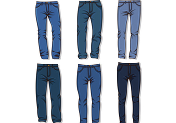 Vector Of Blue Jean - Kostenloses vector #411719