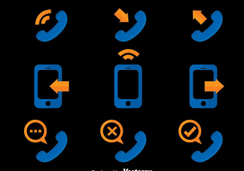 Phone Communication Icons Vector - Free vector #411769