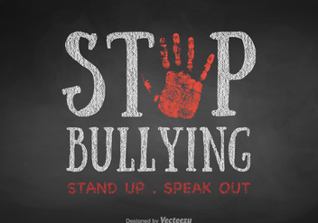 Free Vector Stop Bullying Background - Kostenloses vector #411829