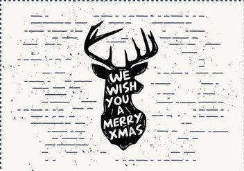 Free Christmas Deer Vector - Free vector #411839