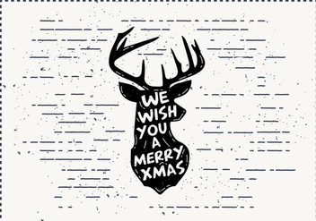 Free Christmas Deer Vector - бесплатный vector #411839