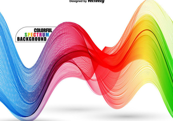 Abstract Colorful Wavy Spectrum - Vector Template - Free vector #411959