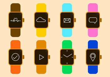 Free Smart Watch Vector Icon - Free vector #412229
