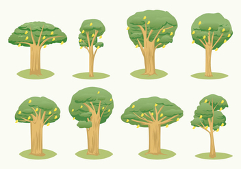 Free Mango Tree Vector - бесплатный vector #412259