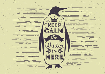 Free Vector Typography Penguin Illutration - Free vector #412539