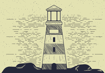 Free Detailed Vector Lighthouse Illutration - Free vector #412559