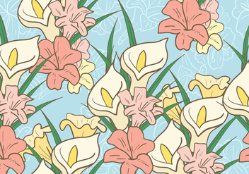 Easter Lily Background - vector gratuit #412599