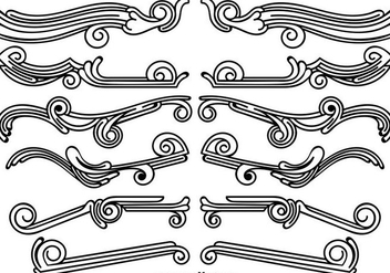 Set Of Vintage Ornamental Dividers - Free vector #412739