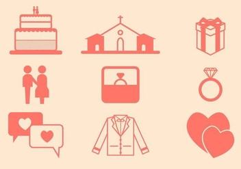 Free Wedding Vector Icon - vector gratuit #412799