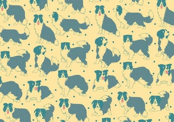 Border Collie Pattern Vector - Free vector #412859