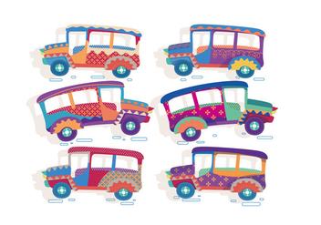 Jeepney Cute Vector - Free vector #412869